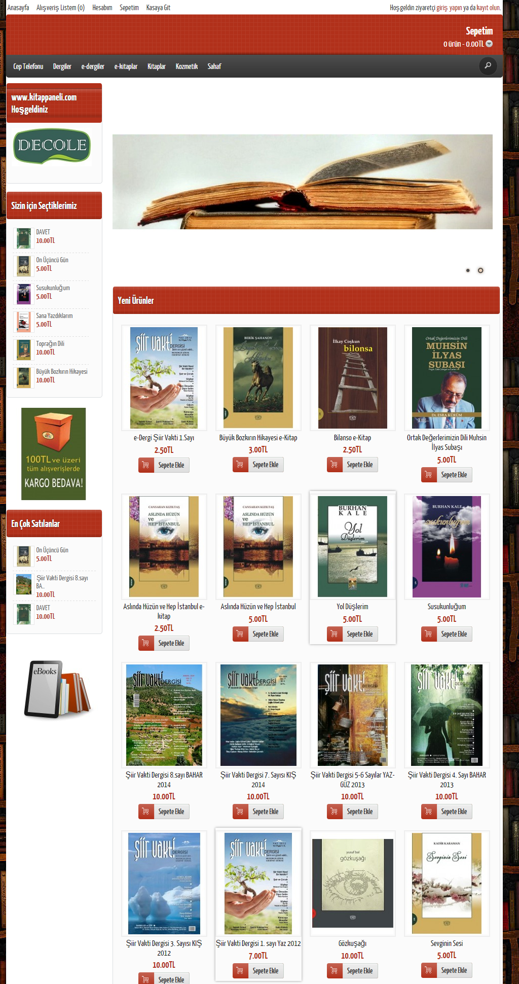 Kitap ve Elektronik kitap satış sitesi